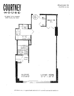 floorplan for 55 West 14th Street #5R