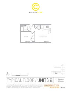 floorplan for 1209 Dekalb Avenue #221