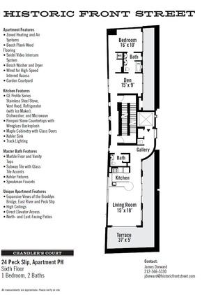 floorplan for 24 Peck Slip #PH