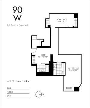 floorplan for 90 Washington Street #14N