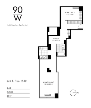 floorplan for 90 Washington Street #12T