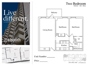 floorplan for 275 South Street #D3