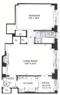 floorplan for 235 East 22nd Street #10K