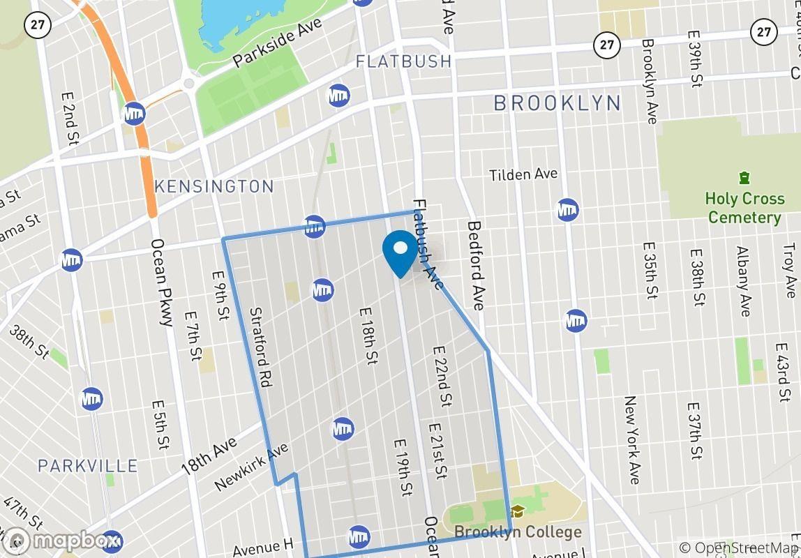 Ditmas Park Brooklyn Map on