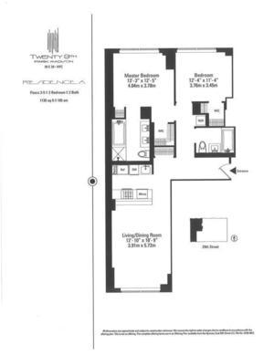 floorplan for 39 East 29th Street #8A