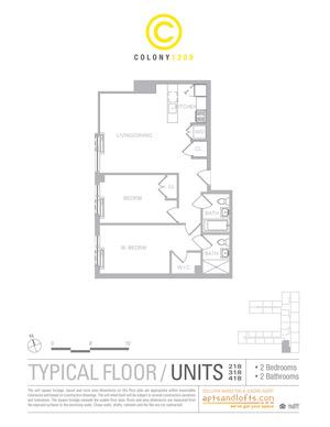 floorplan for 1209 Dekalb Avenue #2218