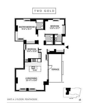 floorplan for 2 Gold Street #PHA