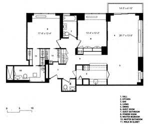 floorplan for 422 East 72nd Street #27D