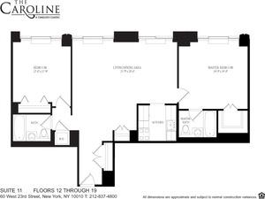 floorplan for 60 West 23rd Street #1211