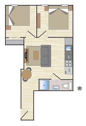 floorplan for 170 East 2nd Street #4B
