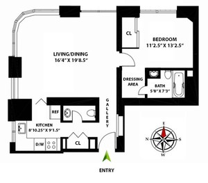 floorplan for 52 East End Avenue #2A