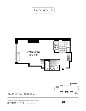 floorplan for 2 Gold Street #413