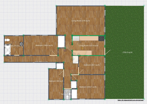 floorplan for 2969 Perry Avenue #1R