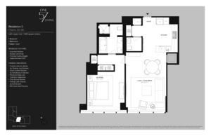 floorplan for 157 West 57th Street #34D