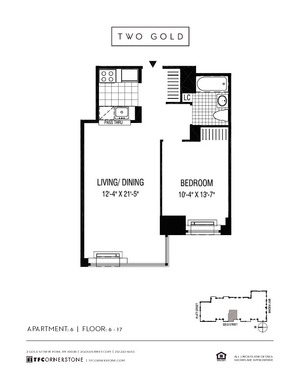 floorplan for 2 Gold Street #1706