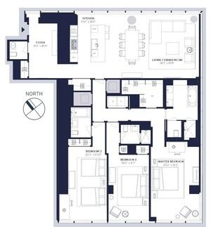floorplan for 157 West 57th Street #37F