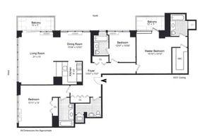 floorplan for 422 East 72nd Street #25E