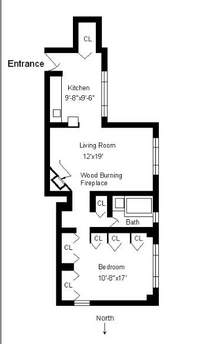 floorplan for 235 East 22nd Street #13P