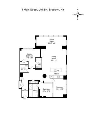 floorplan for 1 Main Street #5H
