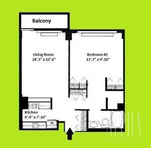 floorplan for 108 East 96th Street #5A