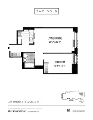 floorplan for 2 Gold Street #4902