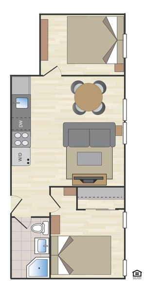 floorplan for 170 East 2nd Street #1A