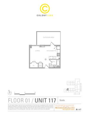 floorplan for 1209 Dekalb Avenue #117