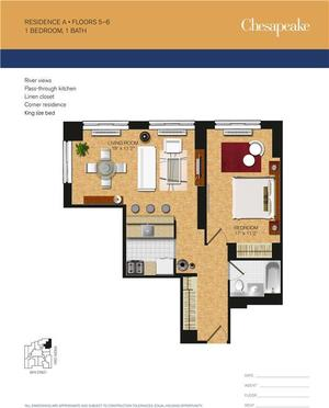 floorplan for 345 East 94th Street #5A