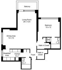 floorplan for 30 East 85th Street #4C
