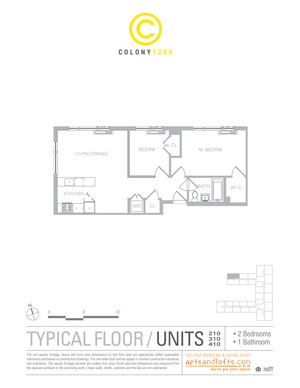 floorplan for 1209 Dekalb Avenue #210