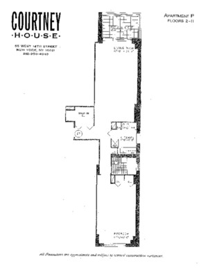 floorplan for 55 W 14th Street #P