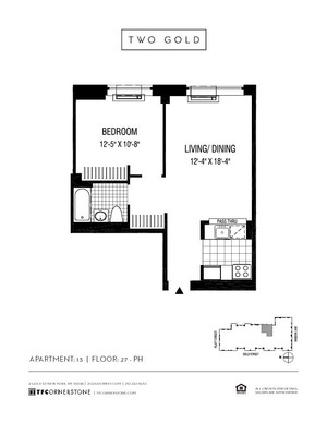 floorplan for 2 Gold Street #5013