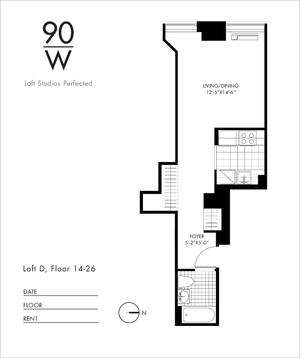 floorplan for 90 Washington Street #PHG