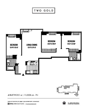 floorplan for 2 Gold Street #2812