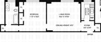 floorplan for 210 Riverside Drive #8D
