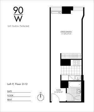 floorplan for 90 Washington Street #10P