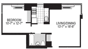 floorplan for 2 Gold Street #23A