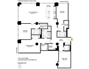 floorplan for 1 Main Street #3B
