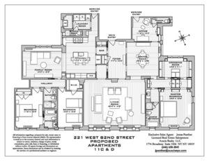 floorplan for 221 West 82nd Street #11C/D