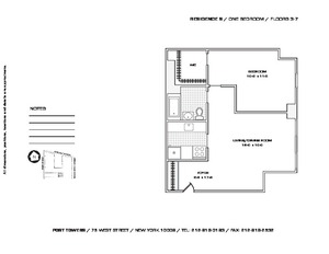 floorplan for 75 West Street #3S
