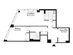 floorplan for 601 West 57th Street #8Q