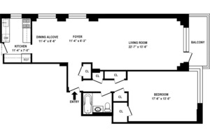 floorplan for 715 Park Avenue #12A
