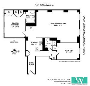 floorplan for 1 Fifth Avenue #2J