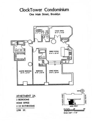 floorplan for 1 Main Street #2A