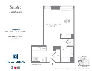 floorplan for 227 West 77th Street #9J