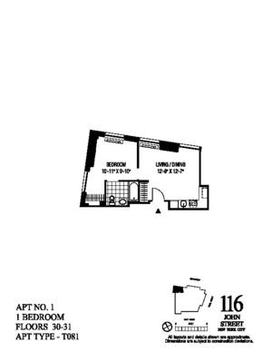 floorplan for 116 John Street #3101