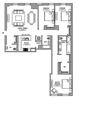 floorplan for 55 West 17th Street #504