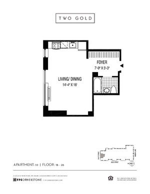 floorplan for 2 Gold Street #1810