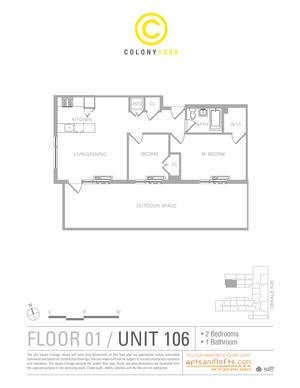 floorplan for 1209 Dekalb Avenue #106
