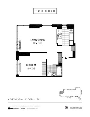 floorplan for 2 Gold Street #3210